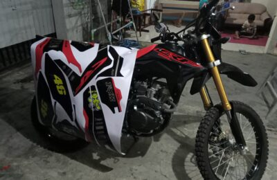 Decal CRF Hitam Merah tema Rally
