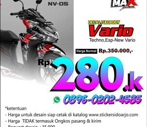 Harga Decal sticker vario 125